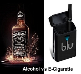 Liquor vs. E-Cigarette Ads