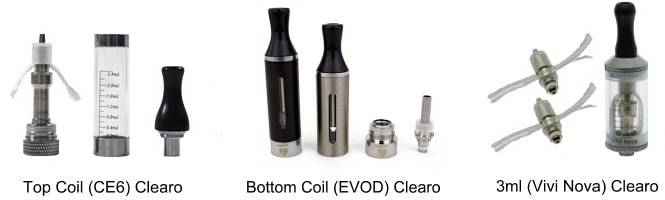 Examples of Clearomizer Types