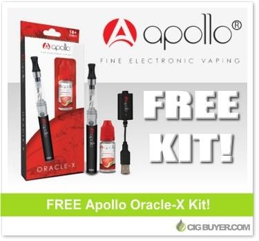 Apollo FREE E-Cigarette Starter Kit | Cig Buyer com