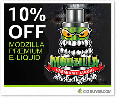 10% OFF Modzilla E-Liquid Deal
