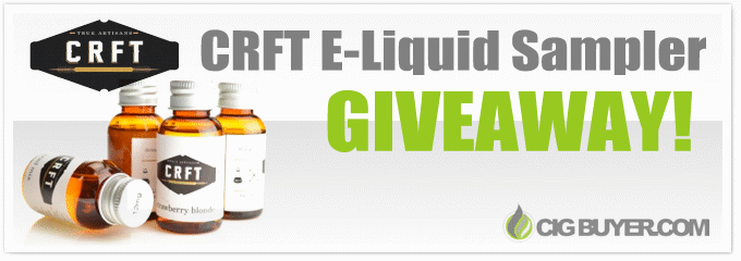 CRFT E-Liquid Sampler Giveaway