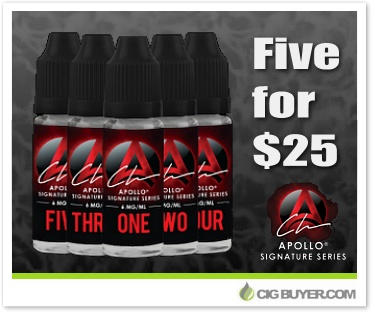 Apollo Signature Series E-Liquid Deal