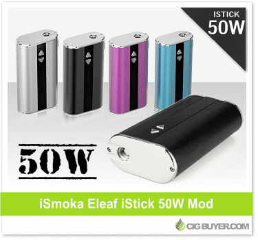 Eleaf istick 50w mod just cig for Vape craft coupon code