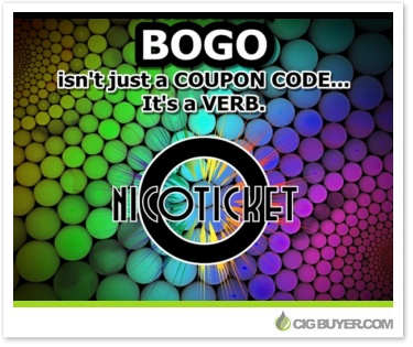Nicoticket BOGO (50% OFF) Deal