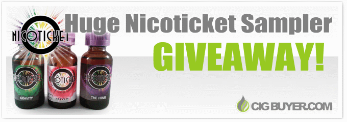 Nicoticket E-Juice Sampler Giveaway