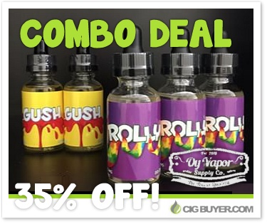 Gush & Rolly E-Juice Combo Deal
