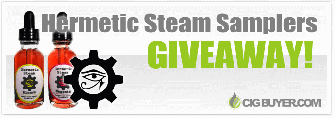 Hermetic Steam E-Juice Sampler Giveaway