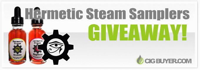 Hermetic Steam E-Juice Sampler Giveaway