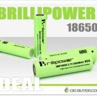 4 x 2600mAh Brillipower 18650 Batteries – $7.49 Each