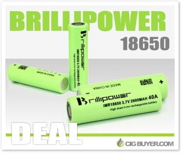 Brillipower 18650 Batteries / Cells