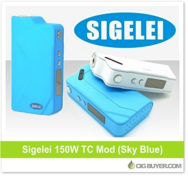Sky Blue Sigelei 150W TC Box Mod