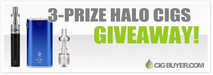 Halo Cigs 3 Prize Giveaway (Mod & Liquid)