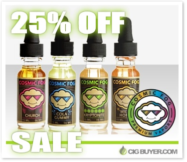 25% OFF Cosmic Fog E-Juice Sale
