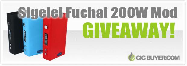 Sigelei Fuchai 200W Mod Giveaway