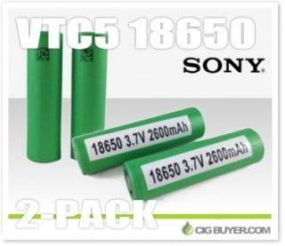2 x Sony VTC5 18650 2600mAh / 30A Battery – $11.67