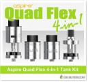 Aspire Quad-Flex 4-In-1 Tank Kit – $32.99