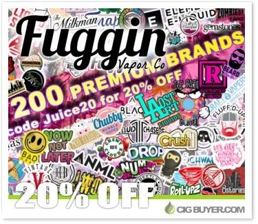 20% OFF Fuggin Vapor E-Juice Sale
