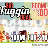 """Big Fuggin E-Juice Deal"" – 400ml for $40 