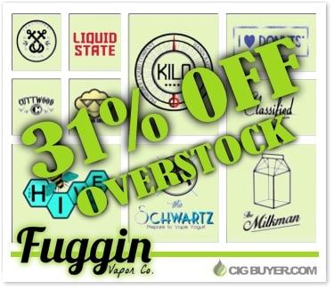 Fuggin Vapor 31% OFF E-Juice Overstock Sale