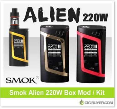 Smok Alien 220W Box Mod / Kit - From $29 95 | Cig Buyer com