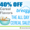 40% OFF Top Cereal E-Juice Flavors at Breazy.com