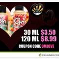50% OFF Om Vapors E-Juice – 30ml for $3.50 | 120ml for $8.99