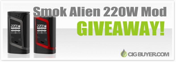 Smok Alien 220W Box Mod Giveaway