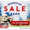 15% OFF Presidents Sale at Vapor Beast