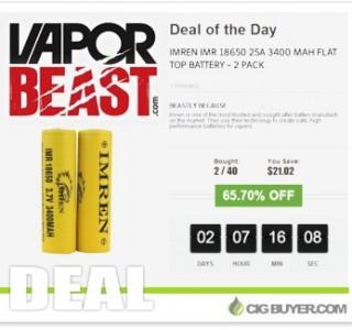 """Imren 18650 Battery (25A/3400mAh) """"Deal Of Day"""" – $9.87 2-Pack!"""