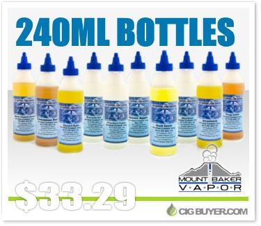 Mt. Baker Vapor 240ml Bottle E-Juice Deal