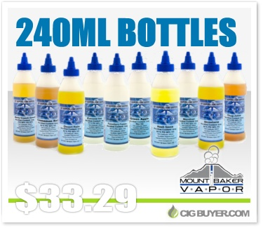 Mt. Baker Vapor 240ml Bottle E-Juice Deal