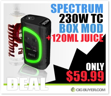 Sigelei Kaos Spectrum 230W Mod Bundle Deal
