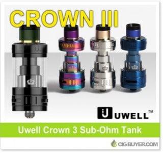Uwell Crown 3 Sub-Ohm Tank – $19.99