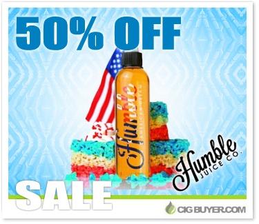 50% OFF Humble E-Juice Deal