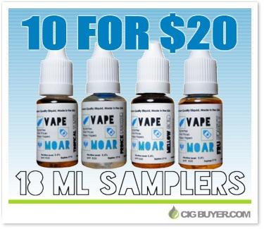 Vape Moar E-Liquid Sampler Deal