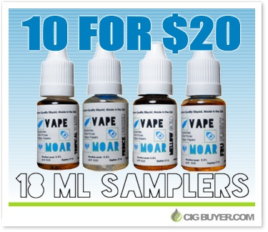 Vape Moar E-Liquid Sampler Deal