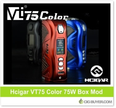 HCigar VT75 Color (DNA75C) Box Mod – $70 99 | Cig Buyer com