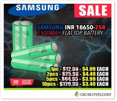 Samsung INR 18650 25R (2500mAh) Battery