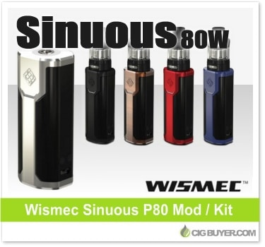 Wismec Sinuous 80W Box Mod / Kit