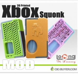 YiLoong SQ Xbox 3D-Printed Mechanical Squonk Mod – $35.99