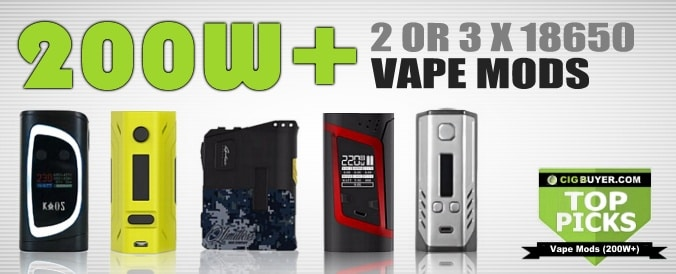 Top Picks for Best 200W Vape / Box Mods