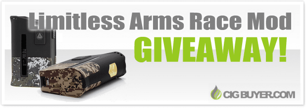 Limitless Arms Race 200W Box Mod Giveaway
