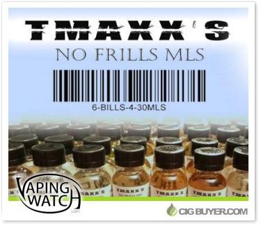 Tmaxx No Frills ML's E-Liquid from Vaping Watch