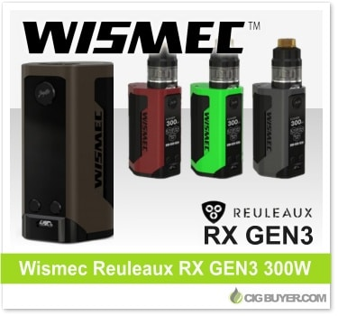 Wismec Reuleaux RX GEN3 300W Box Mod / Kit