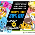 30% OFF Candy + Custard / Cereal + Dessert E-Juice at Breazy.com