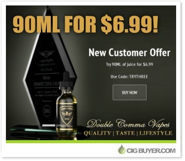 Double Comma Vapes New Customer E-Juice Deal