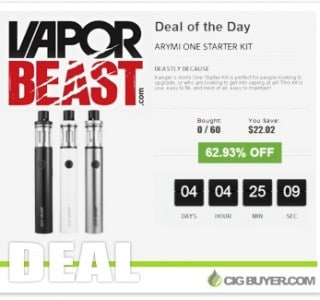 "Kanger Arymi One Starter Kit ""Deal Of Day"" – ONLY $11.67!"