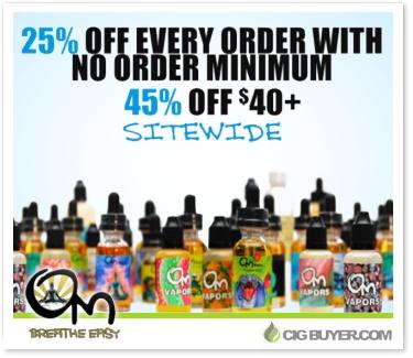 45% OFF Om Vapors E-Juice Deal