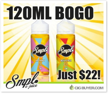 SMPL E-Juice 120ml BOGO Deal