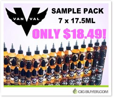 VanVal Vapor E-Liquid Sampler Deal